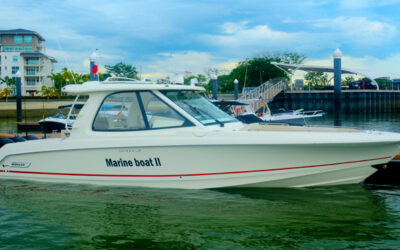 Boston Whaler's Newest Cruiser Comes For A Visit